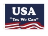 "4x6"" Obama Yes We Can- Stick Flag"