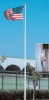 "20' x 4.25"" Fiberglass Flagpole"