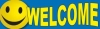 Welcome Vinyl Banner - 3' x 10' - BSF
