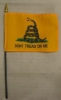 "Gadsden Flag - 4"" x 6"" Mounted"