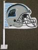 Carolina Panthers Helmet Car Flag