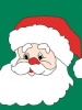 "34"" x 44"" Santa Face Decorative Banner"