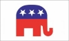 "4x6"" Mounted Republican Elephant Flag"