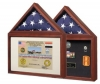 Capitol Flag Case & Certificate Holder - Cherry