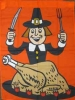 "33"" x 44"" Hungry Pilgrim Decorative Banner"