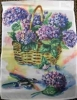 "11"" x 15"" Hydrangea Basket Decorative Garden Banner"