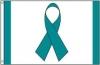 Teal Ribbon Awareness Flag