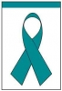 "Teal Ribbon Garden Flag - 12"" x 18"""