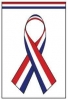 "Red White and Blue Ribbon Garden Flag - 12"" x 18"""
