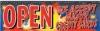 Open Fireworks Vinyl Banner - 3' x 10' - FWKS105