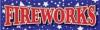 Fireworks Stars Vinyl Banner - 3' x 10' - BSTR111