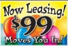 "Now Leasing Move In Coroplast Yard Sign - 18"" x 24"" (BLN99NL)"