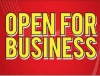 "Open For Business Coroplast Yard Sign - 18"" x 24"" (KWOFB)"
