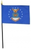 Air Force Flag - Rayon Mounted Stick Flag