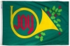 3x5' Joy Horn Holiday Flag - Nylon Outdoor