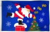 3x5' Santa Rooftop Holiday Flag - Nylon Outdoor