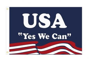 """4x6"""" Obama Yes We Can- Stick Flag"""
