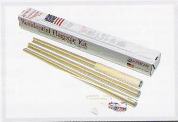 """20' x 3"""" Aluminum Sectional Flagpole"""