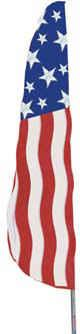 Stars and Stripes Feather Flag - 2' x 8'