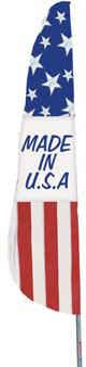 Made in USA Feather Flag - 2' x 8'