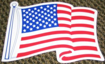 "American Flag Magnet - 2.5"" x 3.5"""