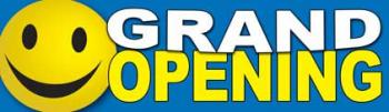 Grand Opening Vinyl Banner - 3' x 10' - BSF