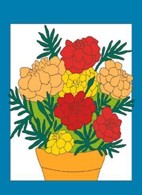 "34"" x 44"" Marigolds Decorative Banner"
