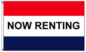 3x5' Now Renting Flag - Nylon