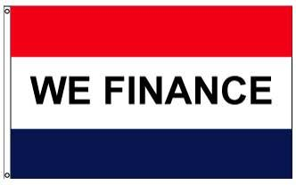 3x5' We Finance Flag - Nylon
