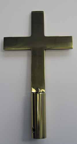 """8"""" Brass Church Cross Ornament"""