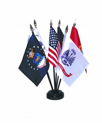 "4x6"" Armed Forces Miniature Flag Set"