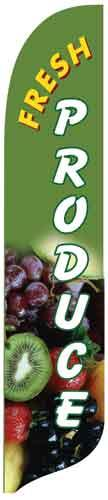 Fresh Produce Quill Flag Kit - 2' x 11'