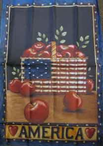 "28"" x 40"" America Apples Decorative Banner"