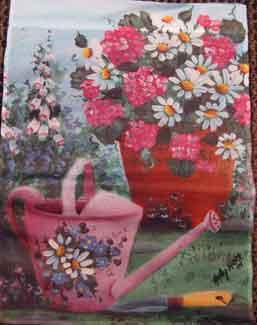 "11"" x 15"" Watering Can Decorative Garden Banner"