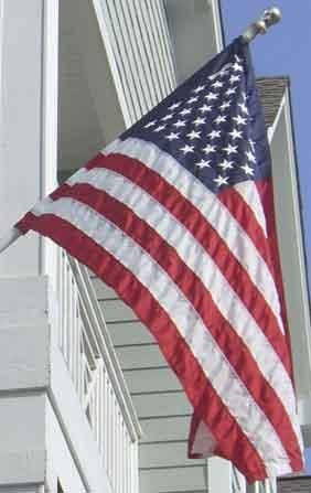 American Flag - <b>Pole Sleeve</b> Nylon American Flags