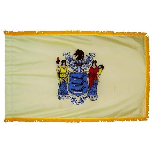 3x5' New Jersey State Flag - Nylon Indoor