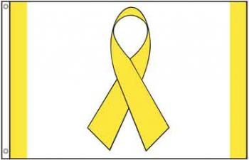 Yellow Ribbon Awareness Flag