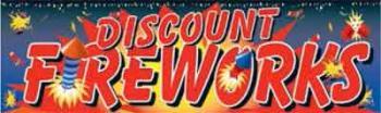 Discount Fireworks Vinyl Banner - 3' x 10' - FWKS104