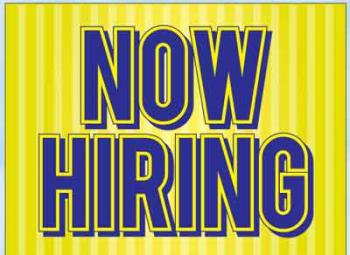 "Now Hiring Coroplast Yard Sign - 18"" x 24"" (KWNH)"