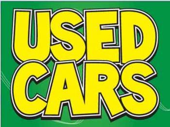 """Used Cars Coroplast Yard Sign - 18"""" x 24"""" (KWUC)"""
