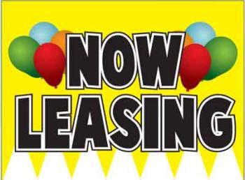 "Now Leasing Coroplast Yard Sign - 18"" x 24"" (KWVBLNNL)"