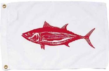 """Albacore Nautical Fun Flag - Nylon - 12x18"""""""
