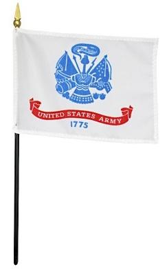 Army Flag - Rayon Mounted Stick Flag