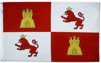 Lions and Castles Flag - Nylon - 3x5'