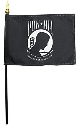 POW/MIA Flag - Rayon Mounted