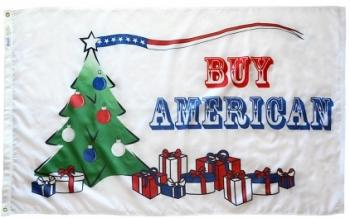 3x5' Buy American Holiday Flag - Nylon Outdoor