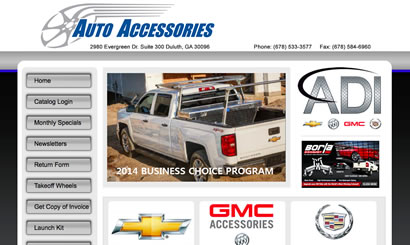 Auto and Truck Web Design