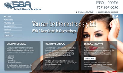 Web Design Beauty Salon