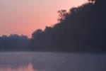 Pre-sunrise snapshot of the Dan River