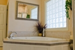 Spacious master bath with garden tub